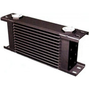 Fluid Cooler, 9 Series, 16 x 14-3/4 x 2 in, Plate Type, 22 mm x 1.50 Female Inlet, 22 mm x 1.50 Female Outlet, Aluminum, Black, Universal, Each