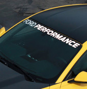 "2015-2016 MUSTANG ""FORD PERFORMANCE"" WINDSHIELD BANNER M-1820-MB"