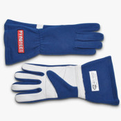 GLOVES RACING 1 LAYER SFI-1 XXLARGE BLUE