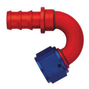 AQP Socketless Fitting;-12AN Hose Size; 150 deg. Elbow; Aluminum; Bulk