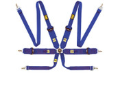 806 HANS 6 POINT SAFETY HARNESSES 2013 BLUE. HOM