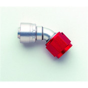 Hose Fitting;Lightweight Crimp Non-Swivel; 45 deg. Elbow; -10AN Hose Size; Bulk