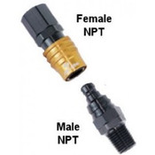 Jiffy-tite 5000 Series Aluminum QDs - Male & Female NPT Plugs and Sockets