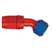 Startlite Fitting;-10AN Hose Size; 30 deg. Elbow; Reusable Aluminum Swivel