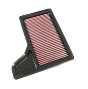 "K&N 4 ply panel washable air filter  Fits stock 2015-2017 Mustang GT, I4, and V6 airbox.   For GT350 see part number M-9601-G    Flows approximately 22% more than stock filter at 1.5"" H2O delta pressure   Does not require PCM recalibration"
