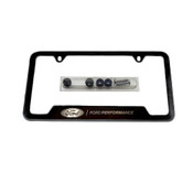 BLACK STAINLESS STEEL FORD PERFORMANCE LICENSE PLATE FRAME