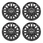 "2005-2020 F-SUPER DUTY 20"" X 8"" PREMIUM BLACK PAINTED ALUMINUM WHEEL PACKAGE WITH TPMS KIT M-1007K-SU2008EB"