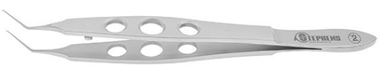 Utrata Capsulorhexis Forceps, Flat Handle, Ready To Use (Disposable) (Box Of 10)