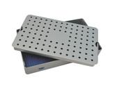 Aluminum Sterilization Tray Large 3.25'' H x 10'' L x 6'' W Deep Single Layer