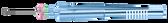 Curved Subretinal Scissors - 12-209-23H