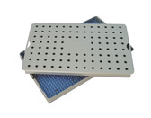 Aluminum Sterilization Tray Large Size 10'' x 6'' x 0.75'' (CalTray A3000)