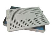 Aluminum Sterilization Tray Extra Large Deep Single Layer 15'' x 10'' x 1.5'' (CalTray A7050)