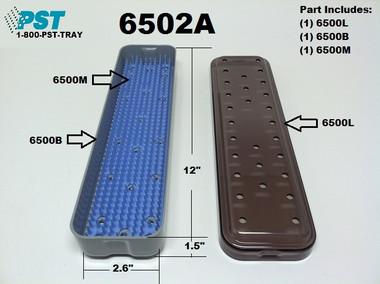 PST Scope Sterilization Tray 2.6'' x 12.0'' x 1.5'' (6502A)