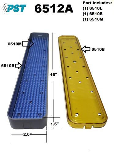 PST Scope Sterilization Tray 2.6'' x 16.0'' x 1.5'' (6512A)
