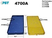 PST Micro Instrument Sterilization Tray 4.0'' x 7.5'' x 0.75'' (4700A)