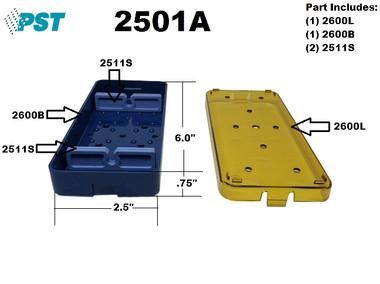 PST Knife Sterilization Tray 2.5'' x 6.0'' x 0.75'' (1 Slot ) (2501A)