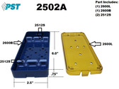 PST Knife Sterilization Tray 2.5'' x 6.0'' x 0.75'' (2 Slot ) (2502A)