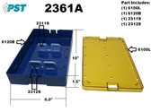 PST Phaco Sterilization Tray 6.0'' x 10.0'' x 1.5'' (1 Slot) (2361A)