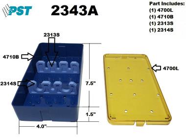 PST Tray For Phaco Sterilization 4.0'' x 7.5'' x 0.75'' (3 Slots) (2343A)