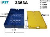 PST Phaco Sterilization Tray 6.0'' x 10.0'' x 1.5'' (3 Slots) (2363A)