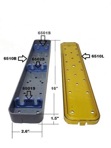 PST Sterilization Tray For Scopes 2.6'' x 16.0'' x 1.5'' (2 Slots) (6510A)