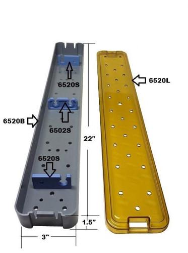 PST Sterilization Tray For Scopes 3.0'' x 22.0'' x 1.5'' (6520A)