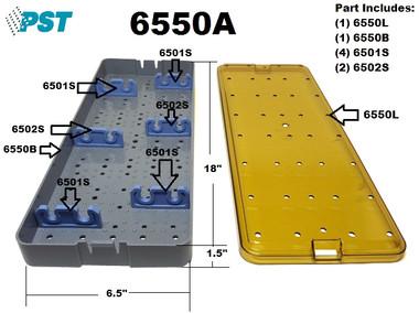 PST Sterilization Tray For Scopes 6.5'' x 18.0'' x 1.5'' (6550A)