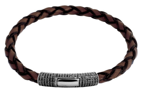 Pop Pave Scoubidou Bracelet Brown