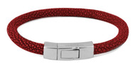 Galuchat Bracelet - Red Shagreen Medium