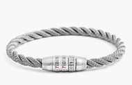 Combination Lock Bracelet - Grey Medium