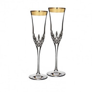 Lismore Essence Gold Champagne Flute