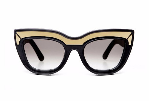 MARMONT LTD - Black w Gold Trim/Black Gradient Lens