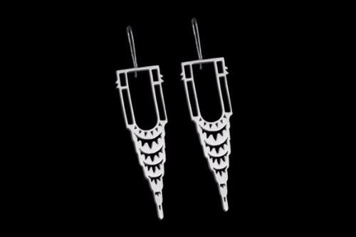 Chrysler Earring - Silver