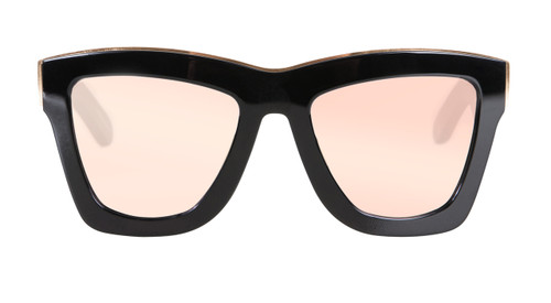 DB - Gloss Black w Rose Gold Trim/ Rose Gold Mirror Lens
