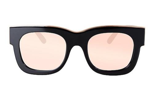 PARASITOS - Gloss Black w Rose Gold Trim/ Rose Gold Mirror Lens
