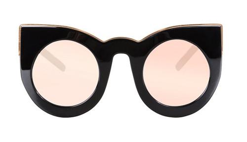 WOLVES - Gloss Black w Rose Gold Trim/ Rose Gold Mirror lens