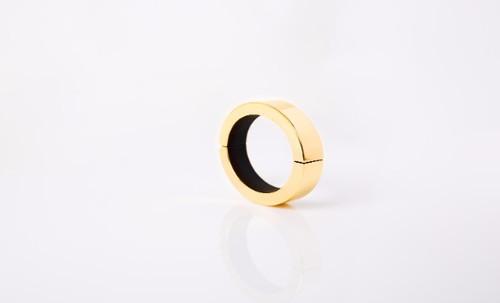Medium Polished Gold Qbracelet