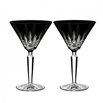 Lismore Martini Glasses - Black
