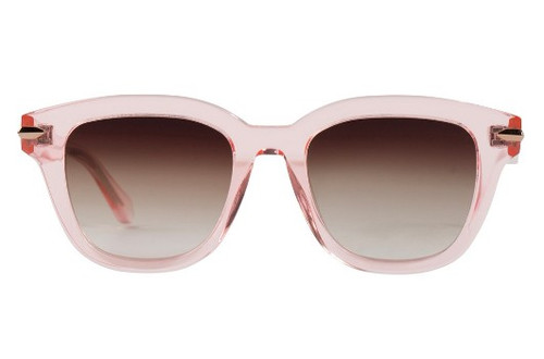Brake - Crystal Pink w/ Rose Gold Metal Trim/ Brown Gradient Lens (FLAT)