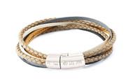 Multi-Strand Cobra Bracelet Stone - Large