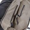 Stanford Black Duffel Bag - Genuine Leather Inside View