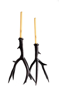 Bronze Antler Candlesticks - Medium and Large