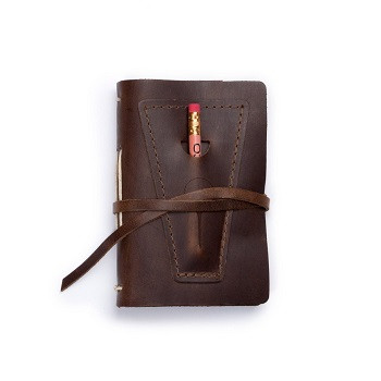 Golf Log with Pocket - Dark Brown