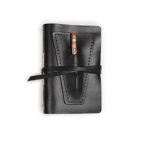 Golf Log with Pocket - Black