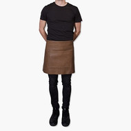 Waist Long Professional Apron - Taupe