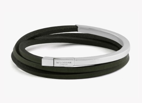 Mezzo Silver Green Bracelet Medium