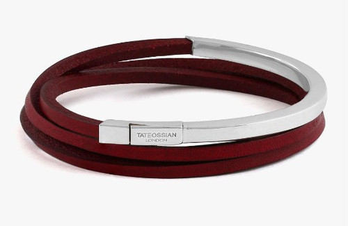 Mezzo Silver Red Bracelet Medium
