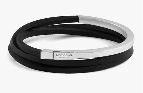 Mezzo Silver Black Bracelet