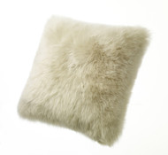 Lambs Wool Cushion Linen
