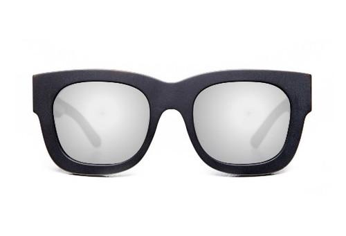 Parasitos - Matte Black/ Silver Mirror Lens